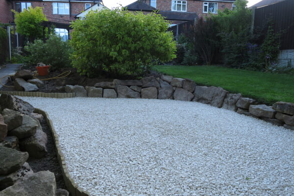 Garden landscaping in Heanor