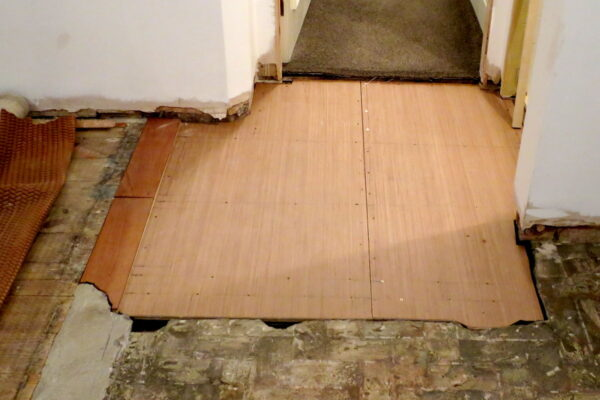 Floor repair over boarding with plywood in Heanor by Benvale Home Maintenance